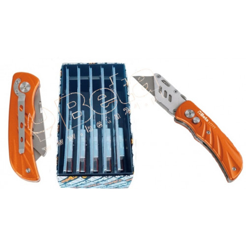 Zestaw 32 noży ze składanym ostrzem trapezowym Beta 1777T