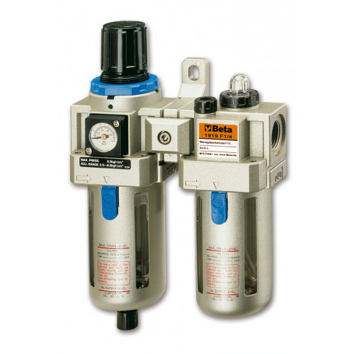 Zespół uzdatniania powietrza z gwinitami przyłączeniowymi 1/4'' Beta 1919F - max przepływ powietrza: 1000l/min