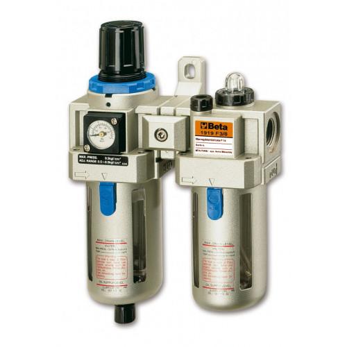 Zespół uzdatniania powietrza z gwinitami przyłączeniowymi 3/8'' Beta 1919F - max przepływ powietrza: 1350l/min