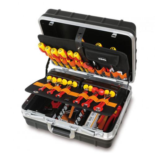 Walizka narzędziowa z zestawem 46 narzędzi dla elektryków i elektroników Beta 2029BG-MQ