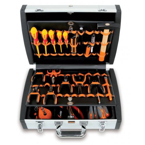 Walizka z zestawem 98 narzędzi dla elektroników/techników Beta 2033PEL/B