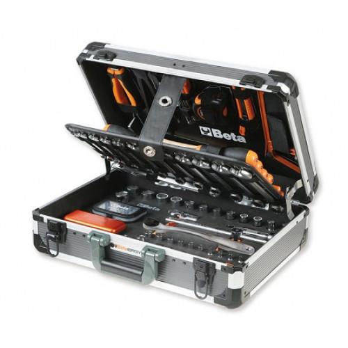 Walizka narzędziowa z zestawem 146 narzędzi Beta 2056E/E-18