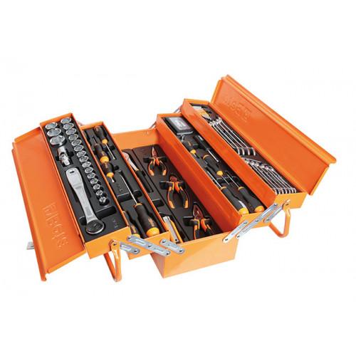 Skrzynka narzędziowa z zestawem 91 narzędzi Beta 2120L-E/T91-E
