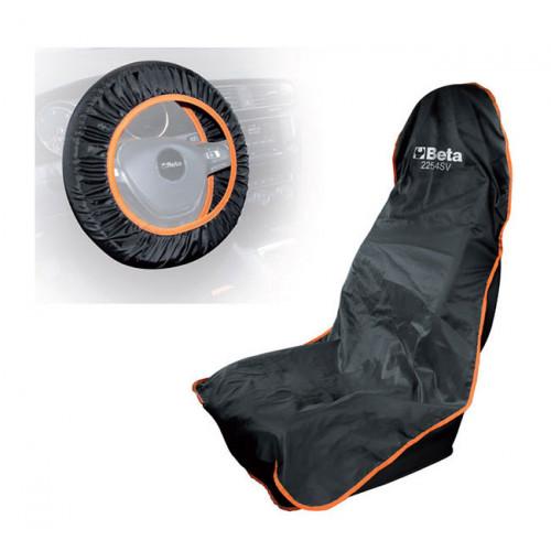 Zestaw osłon wielokrotnego użytku na fotel samochodowy i kierownicę Beta 2254SV