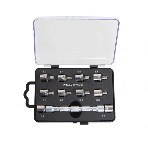 Klucz do dokręcania szprych z zestawem 10 wymiennych końcówek Beta 3075/K10