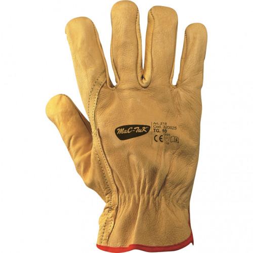 Rękawice ze skóry bydlęcej na podszewce z polaru MAC-TUK 320025