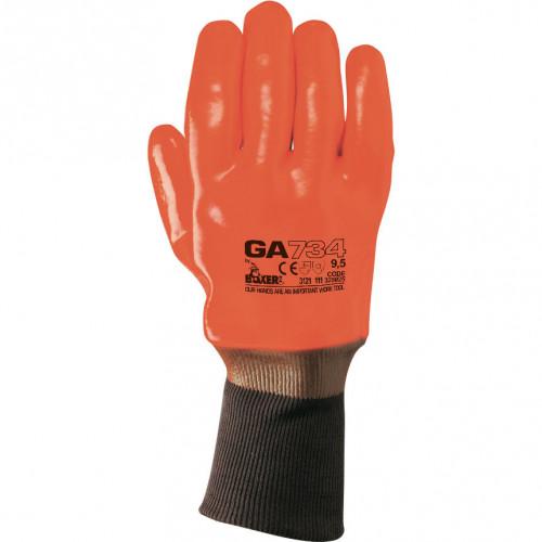 Rękawice ocieplane GA 734 z bawełnianej dzianiny / PCW na poszewce Boxer 325025/9.5