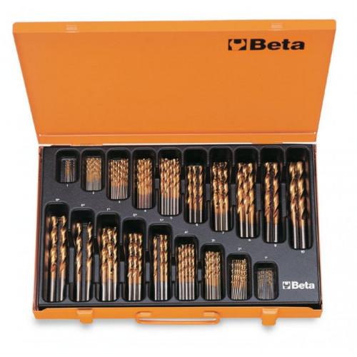 Komplet 116 wierteł krętych cylindrycznych krótkich szlifowanych Beta 414/C116 - Ø 1-10mm