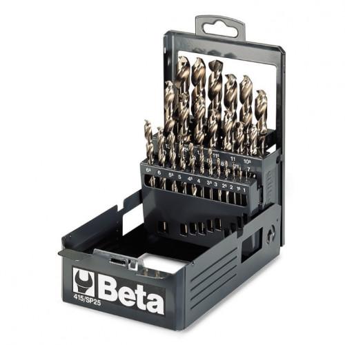Zestaw 19 wierteł krętych cylindrycznych w pudełku Beta 415/SP19 - Ø 1÷10 x 0,5 mm