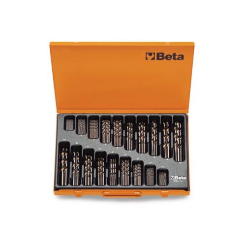 Komplet 116 wierteł krętych cylindrycznych krótkich szlifowanych kobaltowych Beta 415/C116 - Ø1-10mm