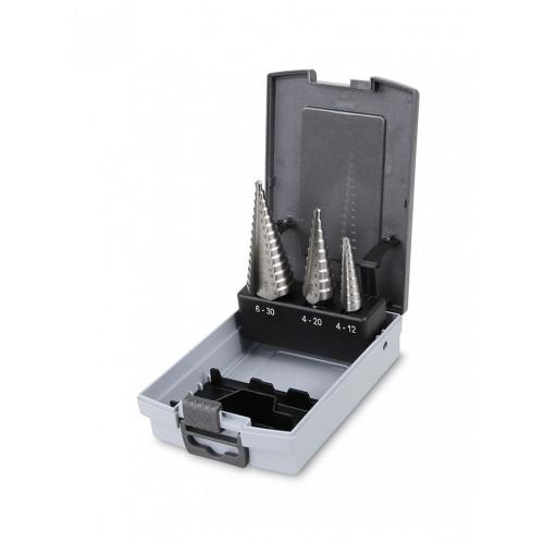 Komplet 3 wierteł stożkowych stopniowych Beta 425/SP3 - rozmiary: 4-30mm
