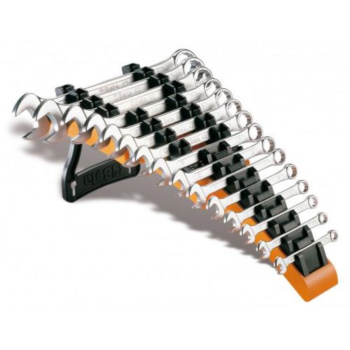 Komplet 15 kluczy płasko-oczkowych chromowanych Beta 42/SP15