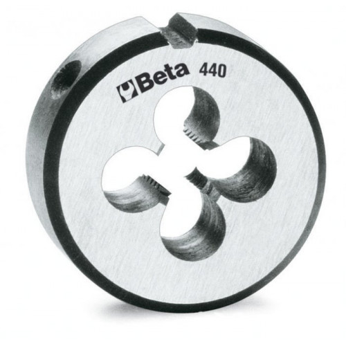 Narzynki okrągłe ze stali chromowanej z gwintem metrycznym Beta 440