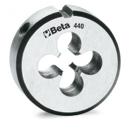Narzynka okrągła ze stali chromowanej z gwintem metrycznym Beta 440A