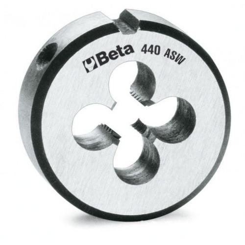 Narzynki okrągłe ze stali chromowanej z gwintem calowym Whitworth Beta 440ASW