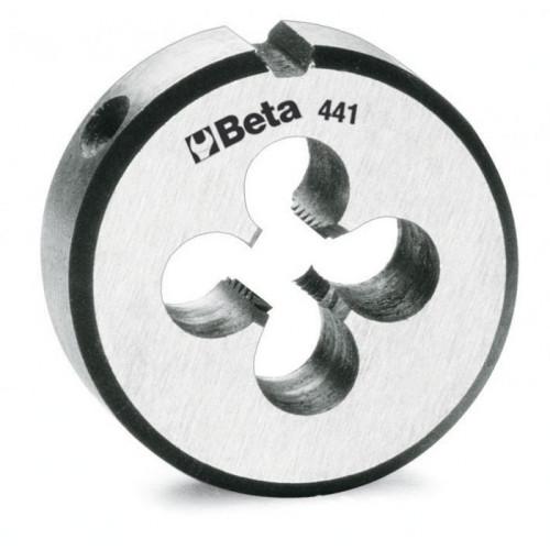 Narzynka okrągła ze stali chromowanej z gwintem metrycznym drobnozwojnym Beta 441B