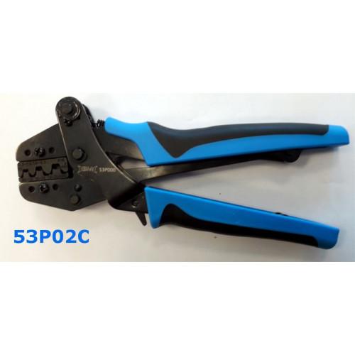 Szczypce do zaciskania końcówek kablowych otwartych mosiężnych BM53P02C - zakres: 0.5-6mm2