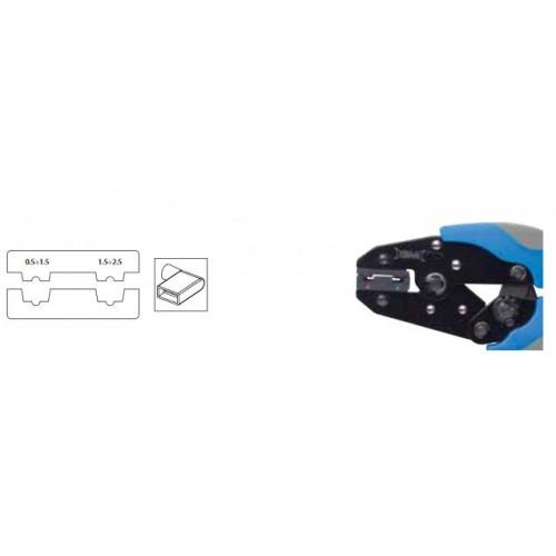 Szczypce automatyczne do końcówek szybkozłączek izolowanych nasuwek flagowych od 0.5 do 2.5mm2 BM Group 532