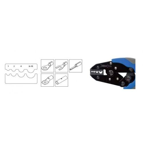 Szczypce automatyczne do zaciskania końcówek nieizolowanych miedzianych od 0.5 do 10mm2 BM Group 535