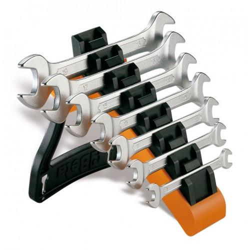 Komplet 7 kluczy płaskich dwustronnych chromowanych Beta 55/SP7