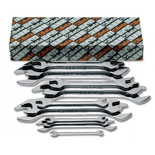 Komplet 12 kluczy płaskich dwustronnych polerowanych Beta 55MP/S12 - rozmiary: 6-32 mm