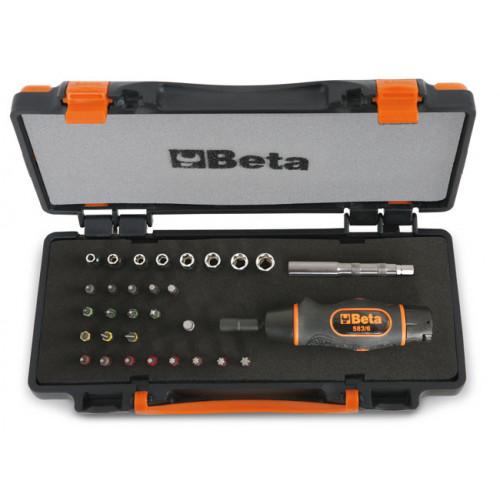 """Wkrętak dynamometryczny 1/4"""" z akcesoriami Beta 583/C31"""