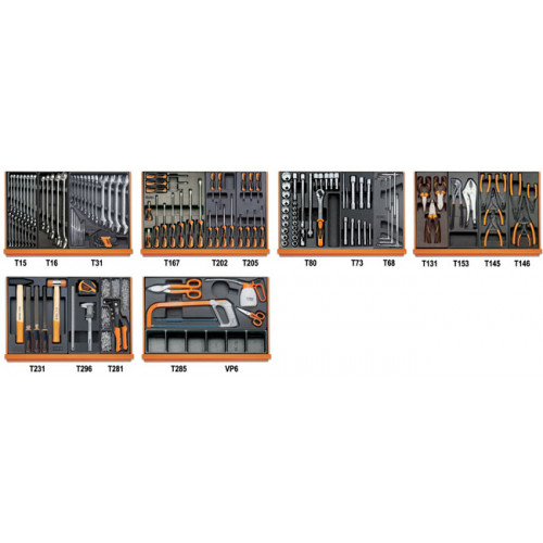 Zestaw 142 narzędzi do użytku przemysłowego Beta 5904VI/3T