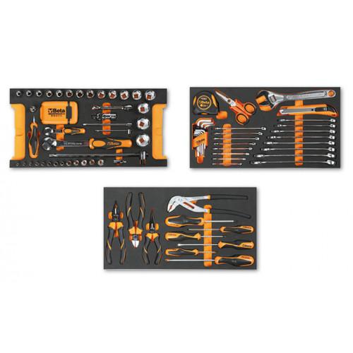 Zestaw 109 narzędzi do skrzyni narzędziowej na kółkach C14 we wkładach profilowanych Beta 5914VU/M