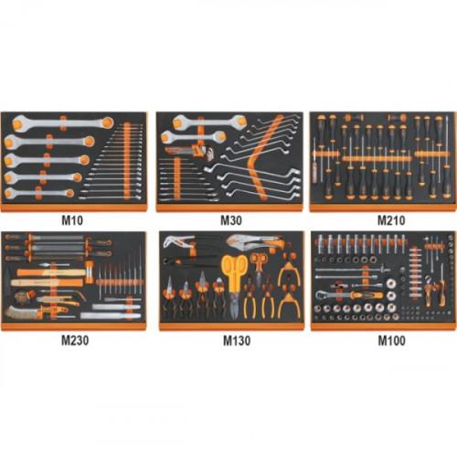 Zestaw 214 narzędzi w miękkich wkładach profilowanych Beta 5988U6/MP