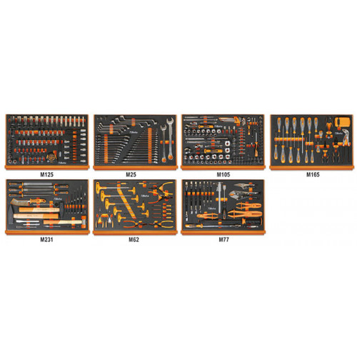 Zestaw 333 narzędzi we wkładach do obsługi pojazdów Beta 5988ROAD/7M