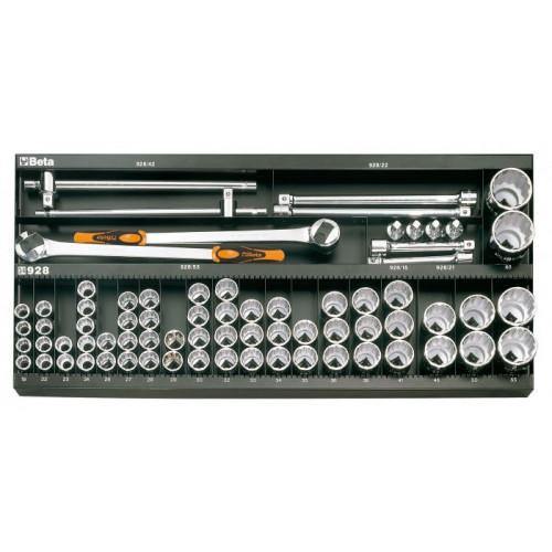 Zestaw 92 szt. narzędzi bez panelu typ M