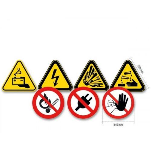 Zestaw 7 znaków ostrzegawczych z aluminium 7109/S7