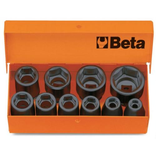 """Komplet 10 nasadek udarowych sześciokątnych z gniazdem 3/4"""" Beta 728/C10 - rozmiary: 17-46mm"""
