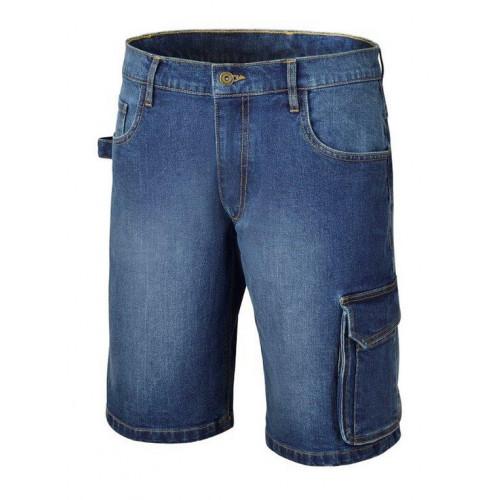 Spodnie krótkie z dżinsu z domieszką streczu Beta 7529