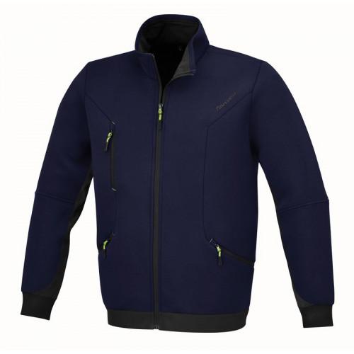 Bluza niebieska z kieszeniami zapinana na zamek Beta 7634B