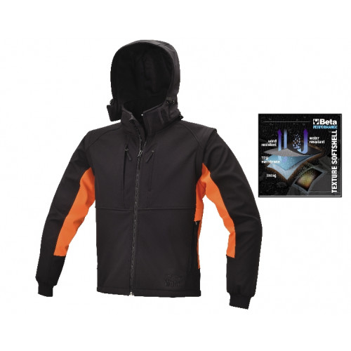 Kurtka softshell z kapturem Beta 7683