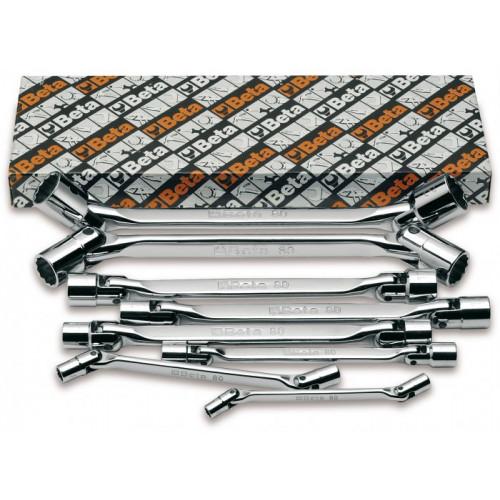 Komplet 11 kluczy nasadowych dwustronnych przegubowych dwunastokątnych Beta 80/S11 - rozmiary: 6-32mm