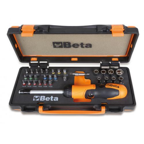 Zestaw pokrętła, 27 końcówek wkrętakowych i 8 nasadek z akcesoriami Beta 860/C38P