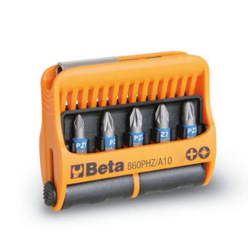 Zestaw 10 końcówek wkrętakowych z uchwytem magnetycznym Beta 860PHZ/A10
