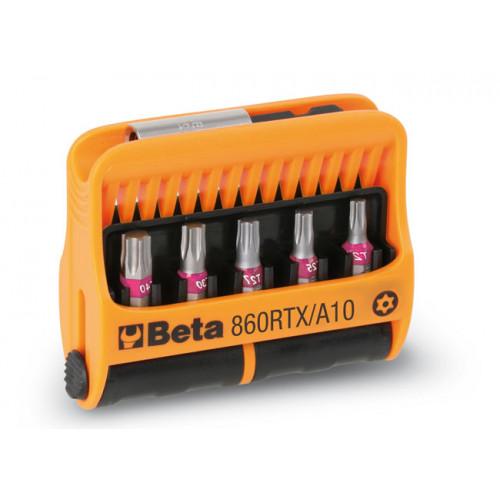 Zestaw 10 końcówek wkrętakowych Tamper Resistant Torx z uchwytem magnetycznym Beta 860RTX/A10