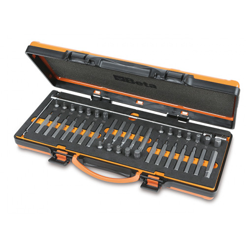 Zestaw 38 końcówek wkrętakowych, 10 mm i klucza nasadowego typu T z przegubem Beta 867/C38