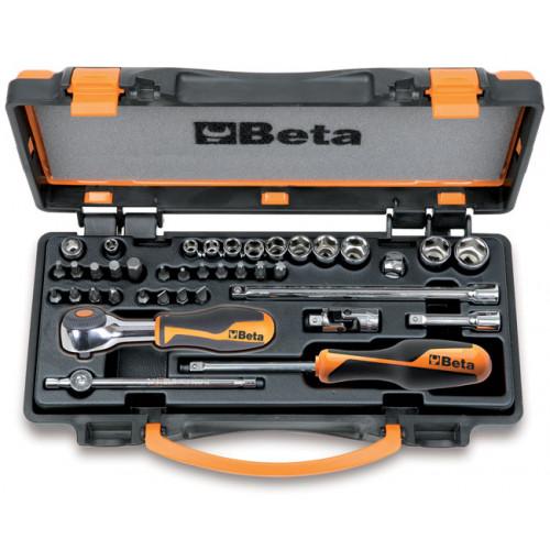 Zestaw nasadek sześciokątnych i końcówek wkrętakowych z akcesoriami Beta 900/C11HR
