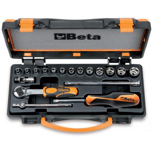 """Zestaw 13 nasadek sześciokątnych 1/4"""" z akcesoriami Beta 900/C13-5"""