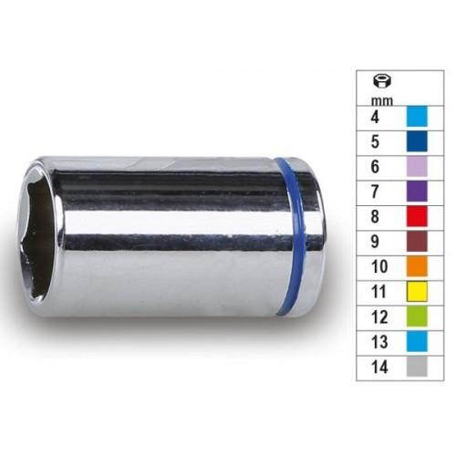 """Nasadki sześciokątne 1/4"""" chromowane rozmiar oznaczony kolorem Beta 900MC"""