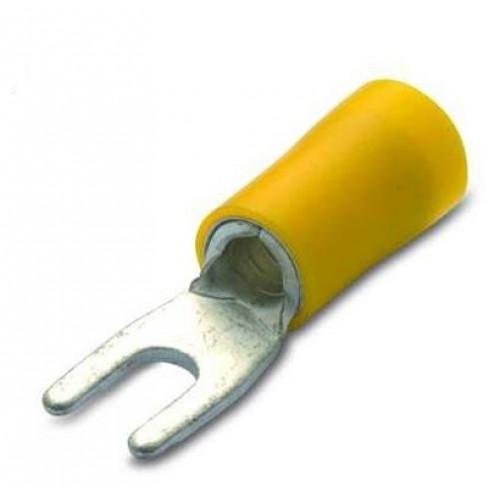 Końcówki widełkowe izolowane PVC z antywibracyjną tulejką miedzianą 50szt. BM Group 90314-90332 - przekrój: 4-6mm2