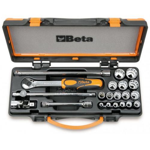 """Zestaw 16 nasadek dwunastokątnych 3/8"""" z akcesoriami Beta 910B/C16"""