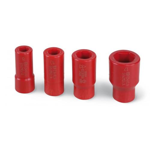 """Komplet 4 nasadek 3/8"""" z technopolimerów na bazie poliamidu Beta 914MQ-A/S4 - rozmiary: 8-17mm"""