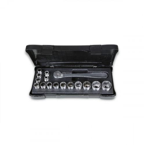 Zestaw 15 nasadek i pokrętła ze stali nierdzewnej Beta 920INOX/C16