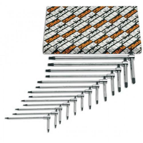 Komplet 13 kluczy trzpieniowych typ T profil Torx Beta 951TX/S13 - rozmiary: T6-T50