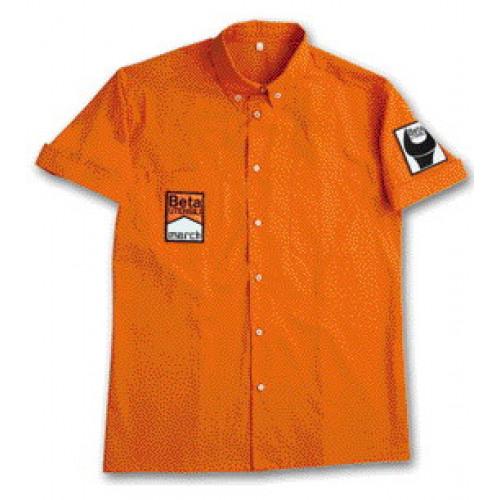 Koszula F1 z bawełny w stylu retro Beta 9554R